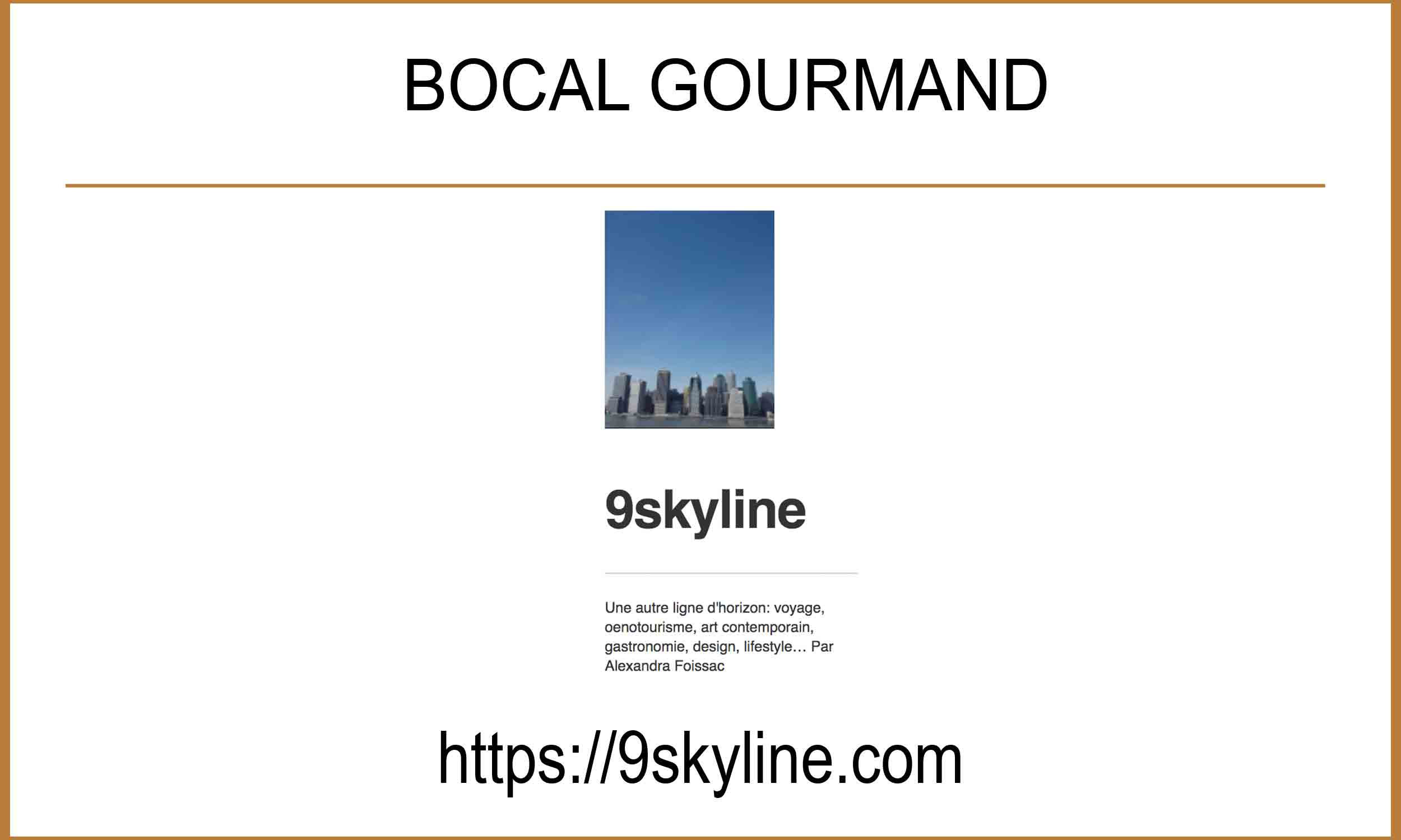 Article blog 9skyline